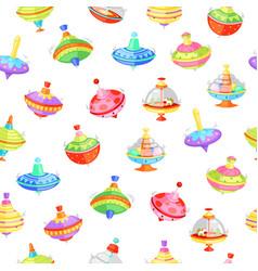 whirligig seamless pattern vector image
