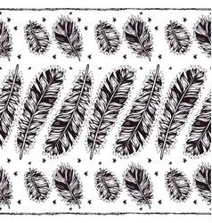 birds feathers boho seamless pattern vector image