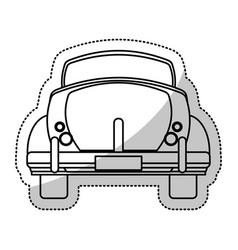 car vintage transport outline vector image