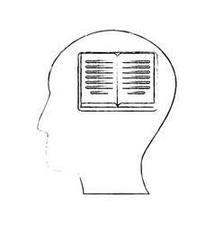 head human book creativity vector image