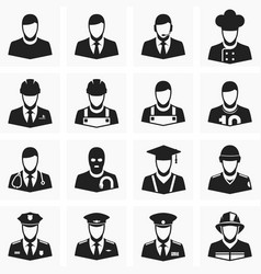 Icons of different professions vector image