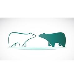 image of an bear design vector image