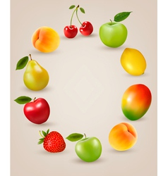 Set of healthy food fruit vector image vector image