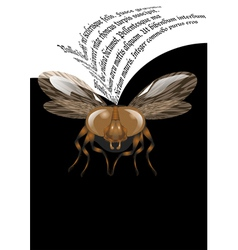 fly poster vector image vector image