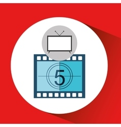 screen tv movie strip countdown film vector image