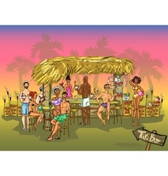 Tiki Bar background vector image