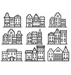 Europe Streets Icons vector image vector image