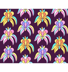 Tropical exotic flowers seamless background vector image vector image