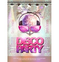 Disco background disco party poster vector