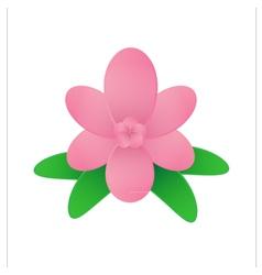 Flower on white background vector image