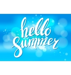Say Hello to Summer on blur vector image vector image