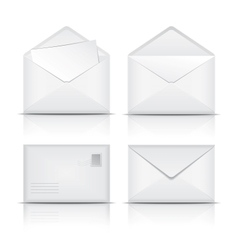 Set of White envelopes vector image vector image