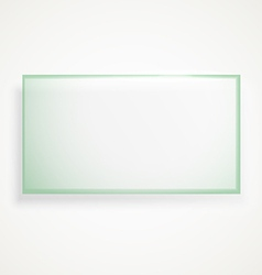 Square advertising glass board vector image