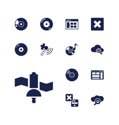 13 software icons vector