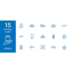 15 cargo icons vector