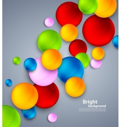 Abstract background with colorful bubbles vector image