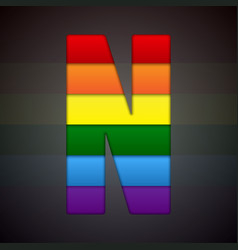 abstract sign of rainbow lgbt community vector image