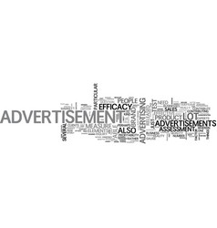 Advertisement is it that effective text word vector
