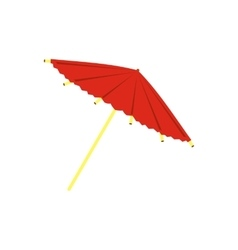 Asian parasol or umbrella icon flat style vector image