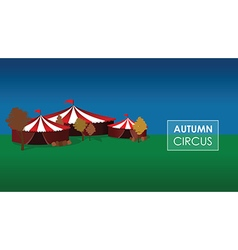 Autumn circus vector