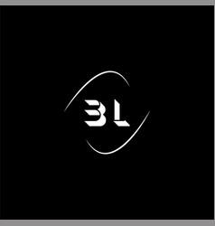 B l letter logo creative design on black color vector