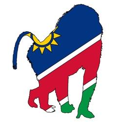 Baboon Namibia vector