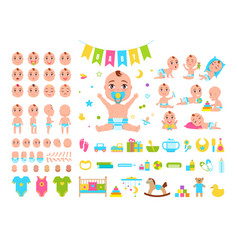 Baby constructor icons vector