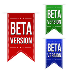 Beta version banner design set vector