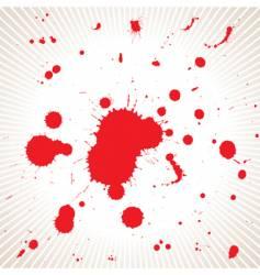 blood splash vector image