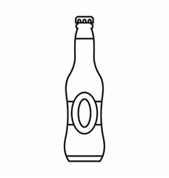 Bottle of beer icon outline style vector image