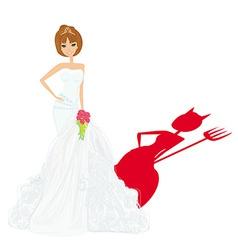 Bride devil vector