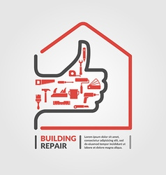 Building repair icon vector