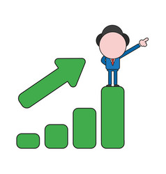 businessman character standing on top of sales vector image