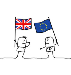 Cartoon people opinions - english and european vector