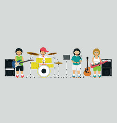 children band vector image
