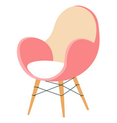 Classic minimalist chair minimalism interior vector