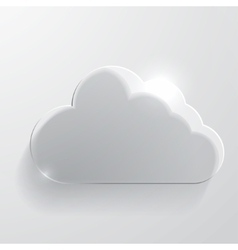 Cloud glass icon vector