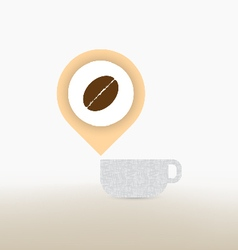 coffee checkin concept vector image