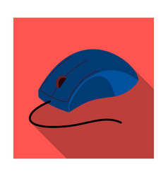 Computer mouse icon in flat style isolated on vector