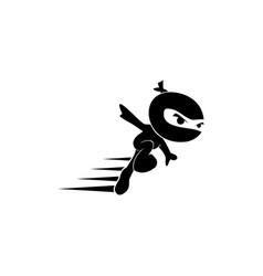 Creative black ninja logo vector