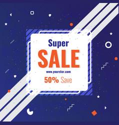 Creative super sale social media post template vector