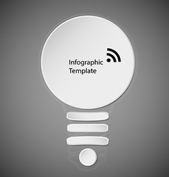 Dark template infographic with bulb motif vector image