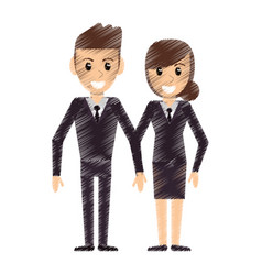 drawing couple people relationship vector image