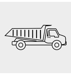 dump truck design vector image