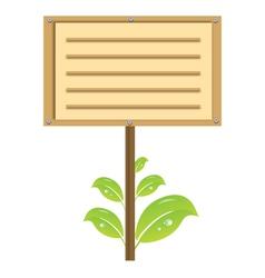 Eco signboard vector