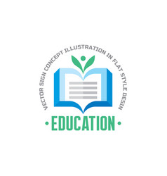 education - logo template concept vector image