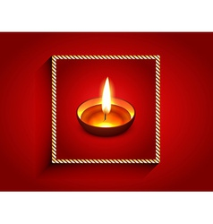 elegant diwali diya vector image