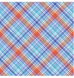 Fabric texture seamless tartan pattern background vector