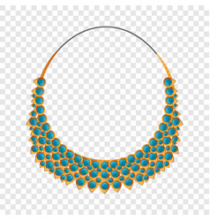fashion necklace icon cartoon style vector image