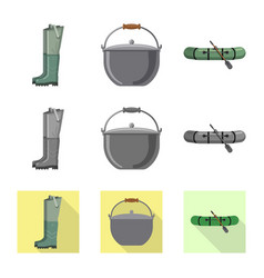 Fish and fishing icon set vector